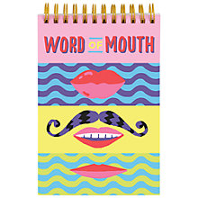 Buy Galison Word Of Mouth Notebook Online at johnlewis.com