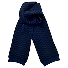 Buy Jigsaw Wave Knit Wool Scarf, Navy Online at johnlewis.com