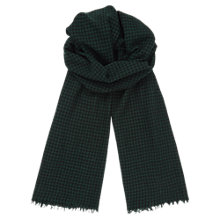 Buy Jigsaw Gingham Selvedge Scarf, Bright Green Online at johnlewis.com