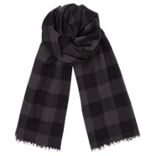Buy Jigsaw Selvedge Wool Check Scarf Online at johnlewis.com