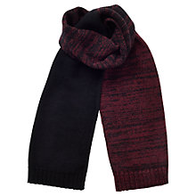 Buy Jigsaw Space Dye Stripe Knit Wool Scarf, Claret Online at johnlewis.com