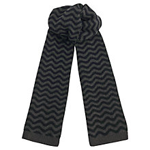 Buy Jigsaw Wave Knit Wool Scarf, Grey Online at johnlewis.com