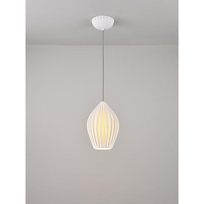 Original BTC Fin Large Pendant Light, White