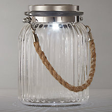 Buy John Lewis Chester Glass Solar Jar, Small Online at johnlewis.com