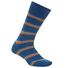 Buy Paul Smith Multi Stripe Block Socks, One Size, Teal Online at johnlewis.com