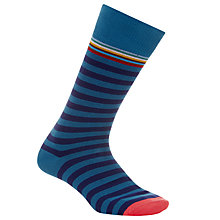 Buy Paul Smith Multi Top Stripe Socks, One Size, Teal Online at johnlewis.com