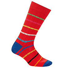 Buy Paul Smith Chunky Stripe Cotton Socks, One Size, Red Online at johnlewis.com
