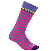 Buy Paul Smith Multi Top Stripe Cotton Socks, One Size, Pink Online at johnlewis.com