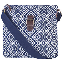 Buy Fat Face Jacquard Snowflake Mini Across Body Bag, Navy Online at johnlewis.com