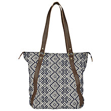 Buy Fat Face Jacquard Snowflake Shopper Bag, Navy Online at johnlewis.com