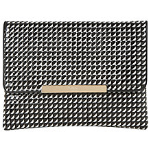 Buy Dune Bea Clutch Bag, Black/White Patent Online at johnlewis.com