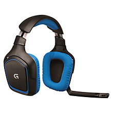Buy Logitech G430 Surround Sound Gaming Headset, Black Online at johnlewis.com