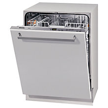 Buy Miele G4263VI Fully Integrated Dishwasher, White / Stainless Steel Online at johnlewis.com