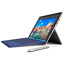 "Buy Microsoft Surface Pro 4 Tablet, Intel Core m3, 4GB RAM, 128GB, 12.3"" Touch Screen with Type Cover, Blue Online at johnlewis.com"
