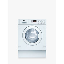 Buy Neff V6320X1GB Integrated Washer Dryer, 7kg Wash/4kg Dry Load, B Energy Rating, 1400rpm Spin Online at johnlewis.com