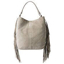 Buy Mango Fringed Suede Handbag Online at johnlewis.com