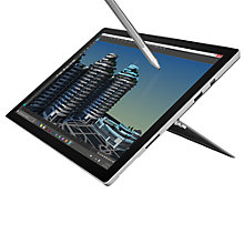 "Buy Microsoft Surface Pro 4 Tablet, Intel Core m3, 4GB RAM, 128GB SSD, 12.3"" Touchscreen and Microsoft Office Home and Business 2016, 1 PC Online at johnlewis.com"