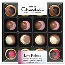 "Buy Hotel Chocolat ""Love Potions"" Cocktail Flavour Milk Chocolates, Assorted, 115g Online at johnlewis.com"