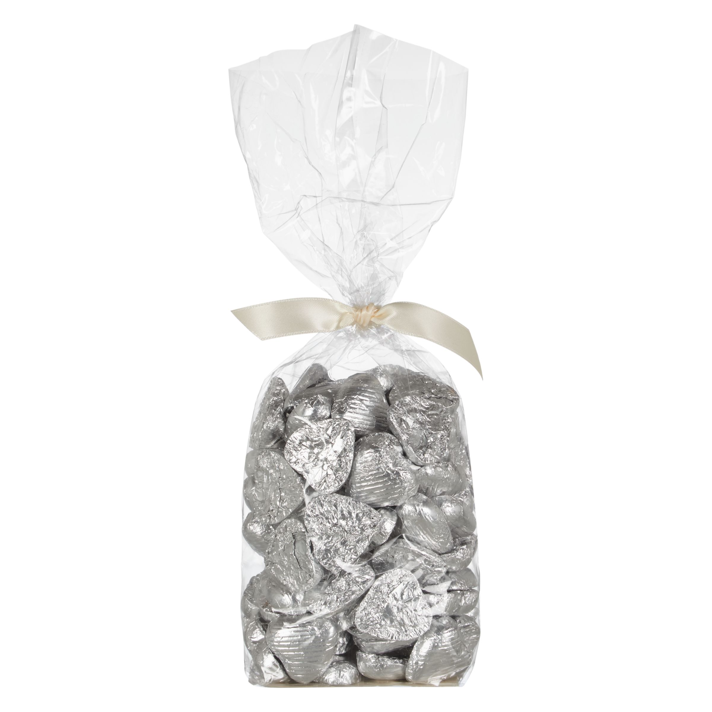 John Lewis Wedding Gift Box : Buy Bag of Solid Milk Chocolate Foiled Hearts Online at johnlewis.com