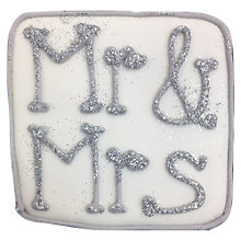 Buy Little Bee Bakery Mr & Mrs Metallic Wedding Biscuits Online at johnlewis.com