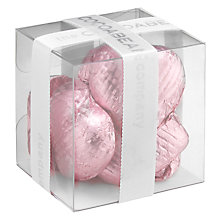 Buy The Cocoabean Company Foiled Milk Chocolate Hearts Mini Cube Online at johnlewis.com