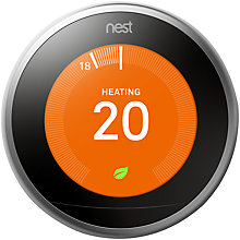 Buy Nest Learning Smart Home Thermostat, 3rd Generation, Silver Online at johnlewis.com