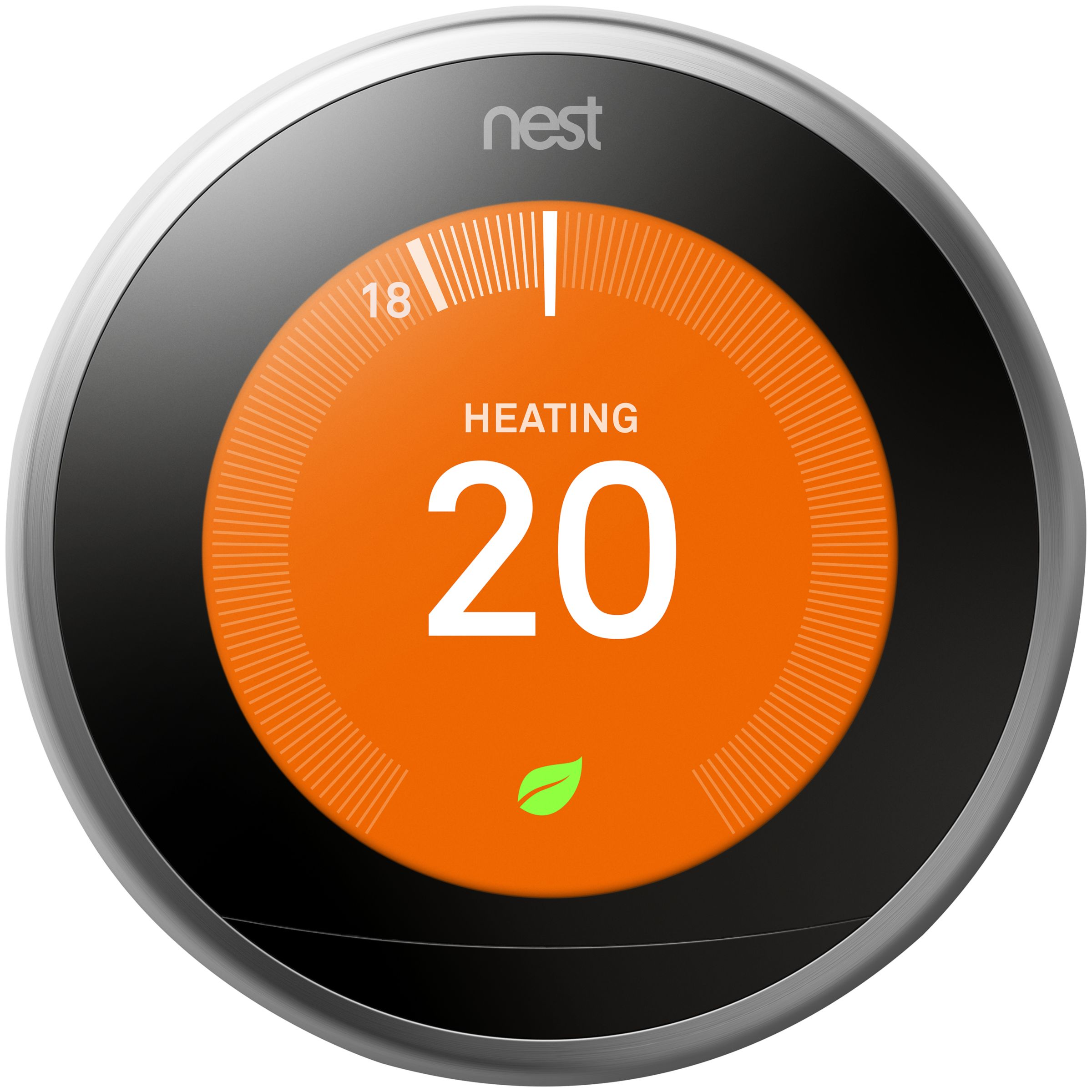 Nest Nest Learning Thermostat, 3rd Generation, Silver