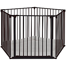 Buy BabyDan Baby Playpen With Wall Fittings, Black Online at johnlewis.com