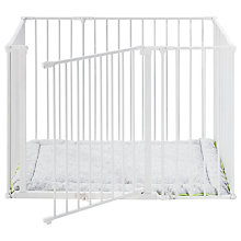 Buy BabyDan Baby Square Playpen, White Online at johnlewis.com
