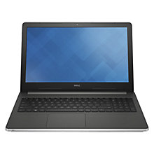 "Buy Dell Inspiron 15-5559 Laptop, Intel Core i3, 6GB RAM, 1TB, 15.6"" Touch Screen, Silver Online at johnlewis.com"