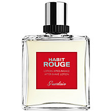Buy Guerlain Habit Rouge Aftershave Lotion, 100ml Online at johnlewis.com