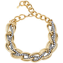 Buy Adele Marie Chunky Bead Necklace, Gold/Grey Online at johnlewis.com