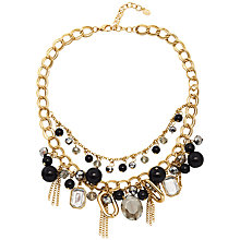 Buy Adele Marie Double Row Tassel and Bead Necklace, Gold/Black Online at johnlewis.com