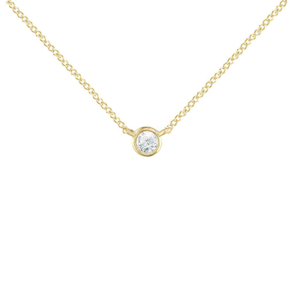 London Road London Road 9ct Gold Portobello Raindrop Diamond Set Chain Necklace