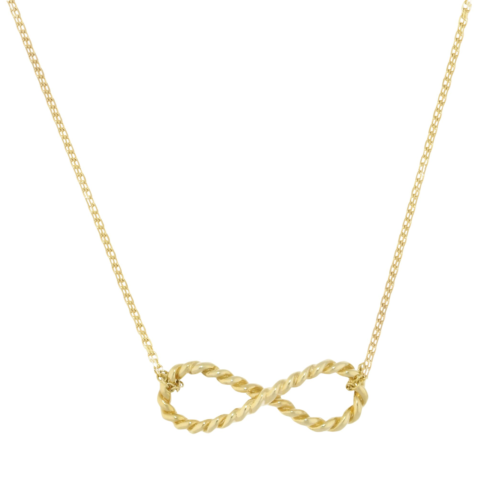 London Road London Road 9ct Yellow Gold Large Infinity Pendant, Gold