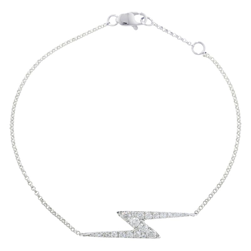 London Road London Road 9ct White Gold Portobello Zig Zag Diamond Bracelet