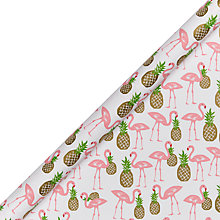 Buy John Lewis Flamingo Wrapping Paper Online at johnlewis.com