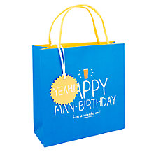 Buy Happy Jackson Happy Man Birthday Bag, Medium Online at johnlewis.com
