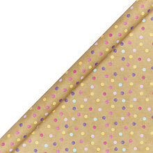 Buy John Lewis Kraft Multi Pastel Spots Wrapping Paper Online at johnlewis.com