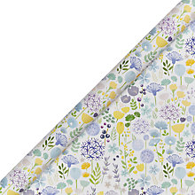 Buy John Lewis Flower Meadow Blue and Yellow Gift Wrap Online at johnlewis.com