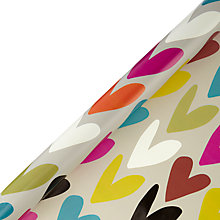 Buy Caroline Gardner Big Heart Wrapping Paper, 3m Online at johnlewis.com