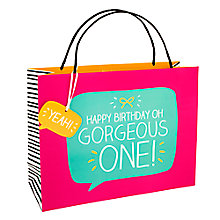 Buy Happy Jackson New Gorgeous One Shopper Gift Bag Online at johnlewis.com