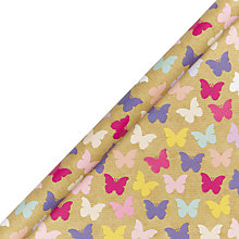 Buy John Lewis Kraft Butterflies Gift Wrap Online at johnlewis.com