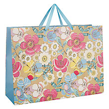 Buy John Lewis Pastel/Grain Floral Motif, Blue Online at johnlewis.com