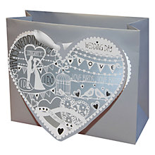 "Buy Deva ""I Do"" Love Birds Gift Bag, Small Online at johnlewis.com"