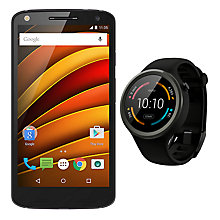 "Buy Moto X Force Smartphone, Android, 5.4"", 4G, SIM Free, 32GB, with Moto 360 Sport Watch Online at johnlewis.com"