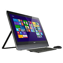 "Buy Acer Aspire U5-620 All-in-One PC, Intel Core i7, 8GB RAM, 1TB, 23"" Full HD Touchscreen, Black and Microsoft 900 Wireless Mouse, Black Online at johnlewis.com"