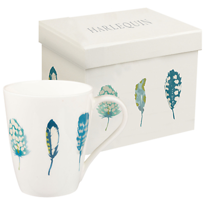 Harlequin Feather Mug, Lagoon