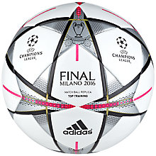Buy Adidas Finmilano Training Soccer Ball, White Online at johnlewis.com