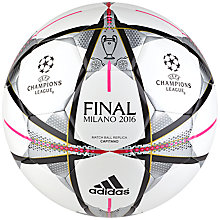 Buy Adidas Finmilano Cap Soccer Ball, White Online at johnlewis.com